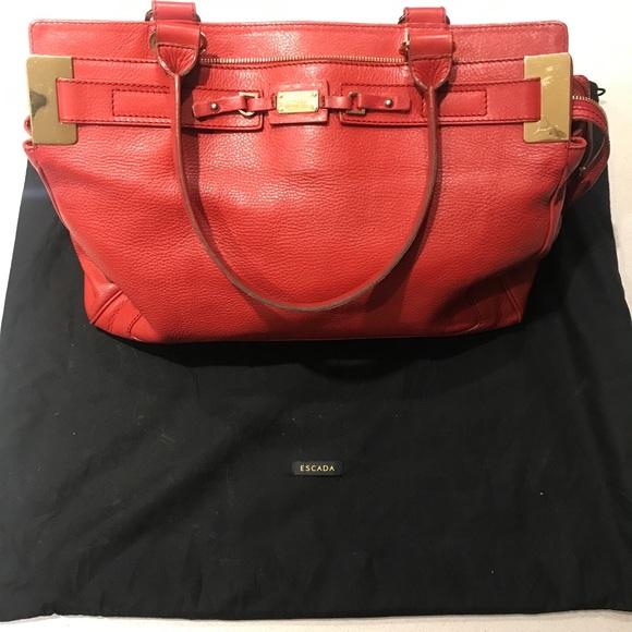 Escada Handbags - Women s Red Purse f753ed343f2dd